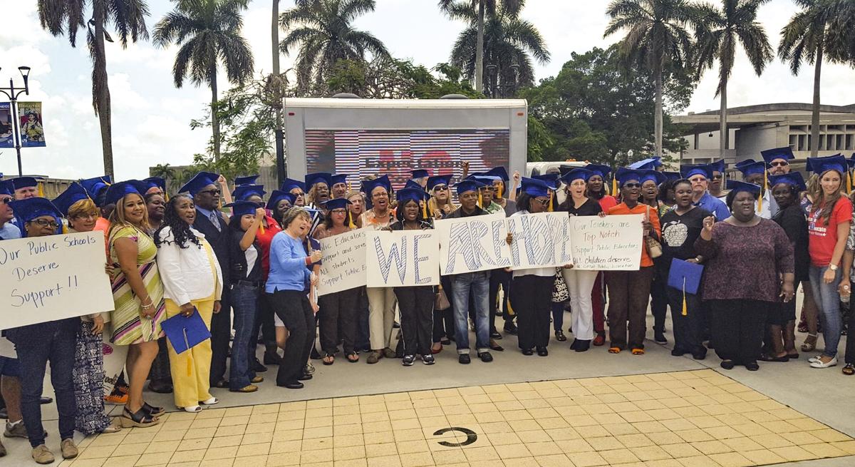 Randi Weingarten with United Teachers of Dade members